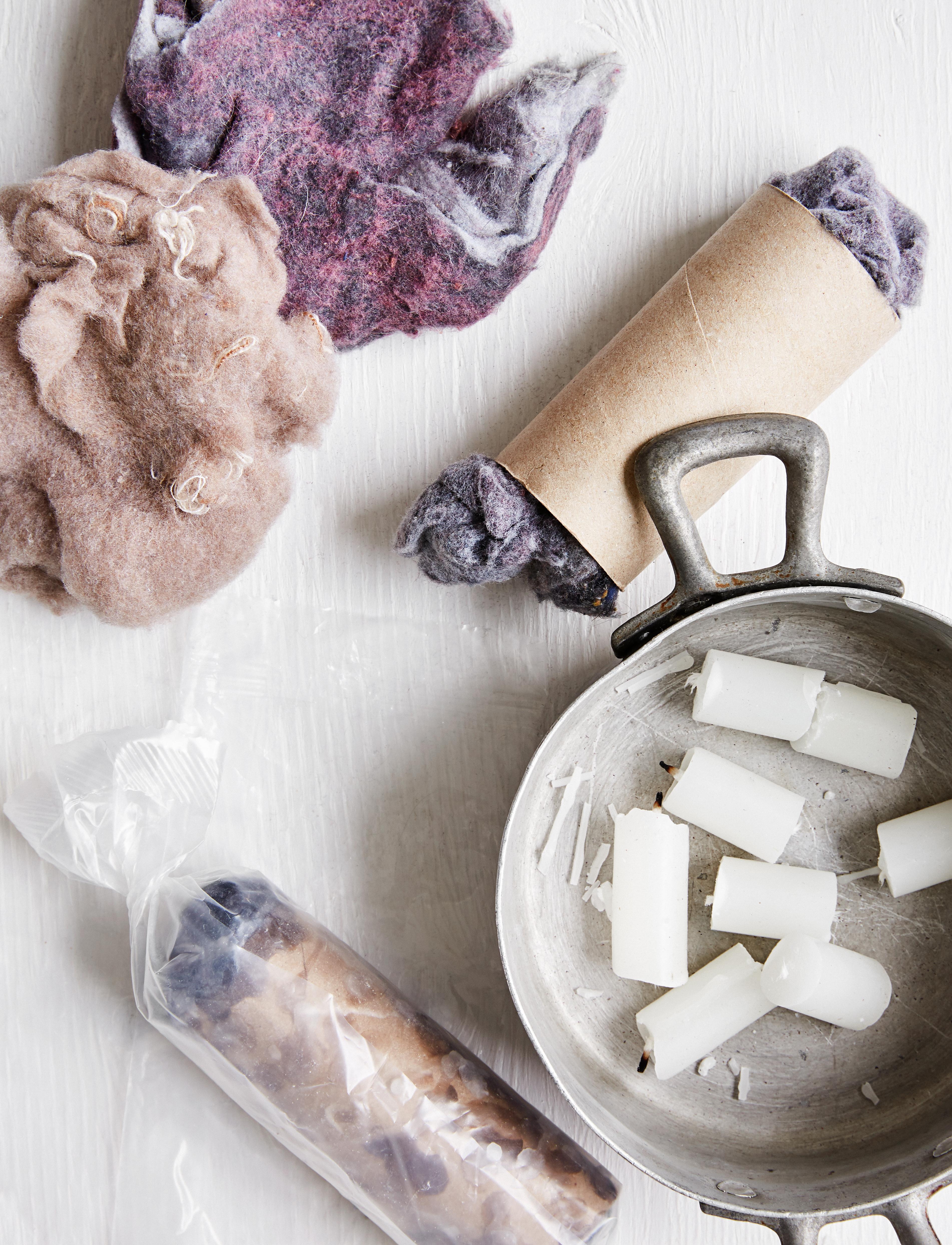 Allume-feu avec mousse de sécheuse