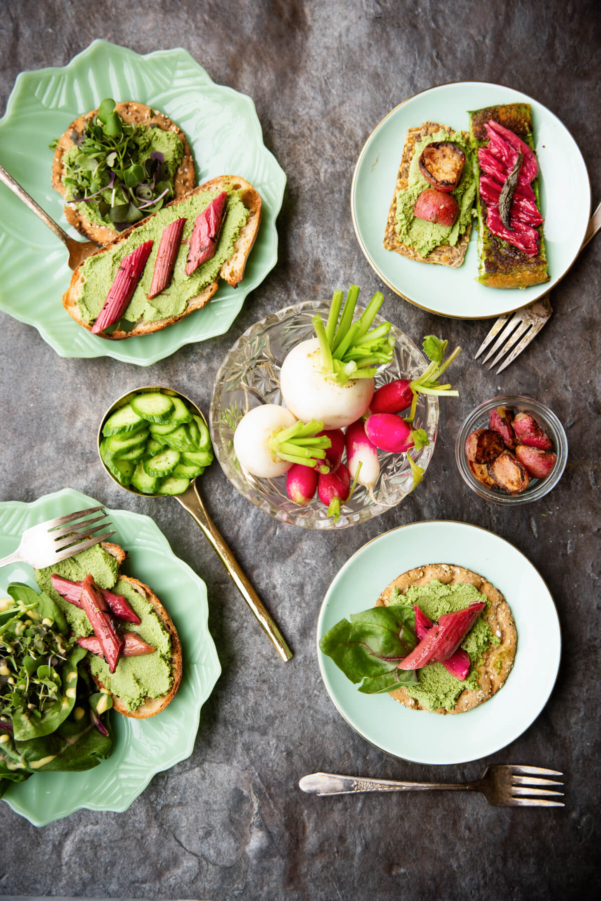 tartinade de tofu aux fanes de légumes
