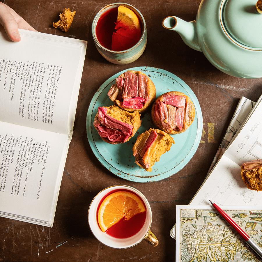 Gâteau à la purée de carottes, renversé à la rhubarbe, une recette du Chic Frigo Sans Fric
