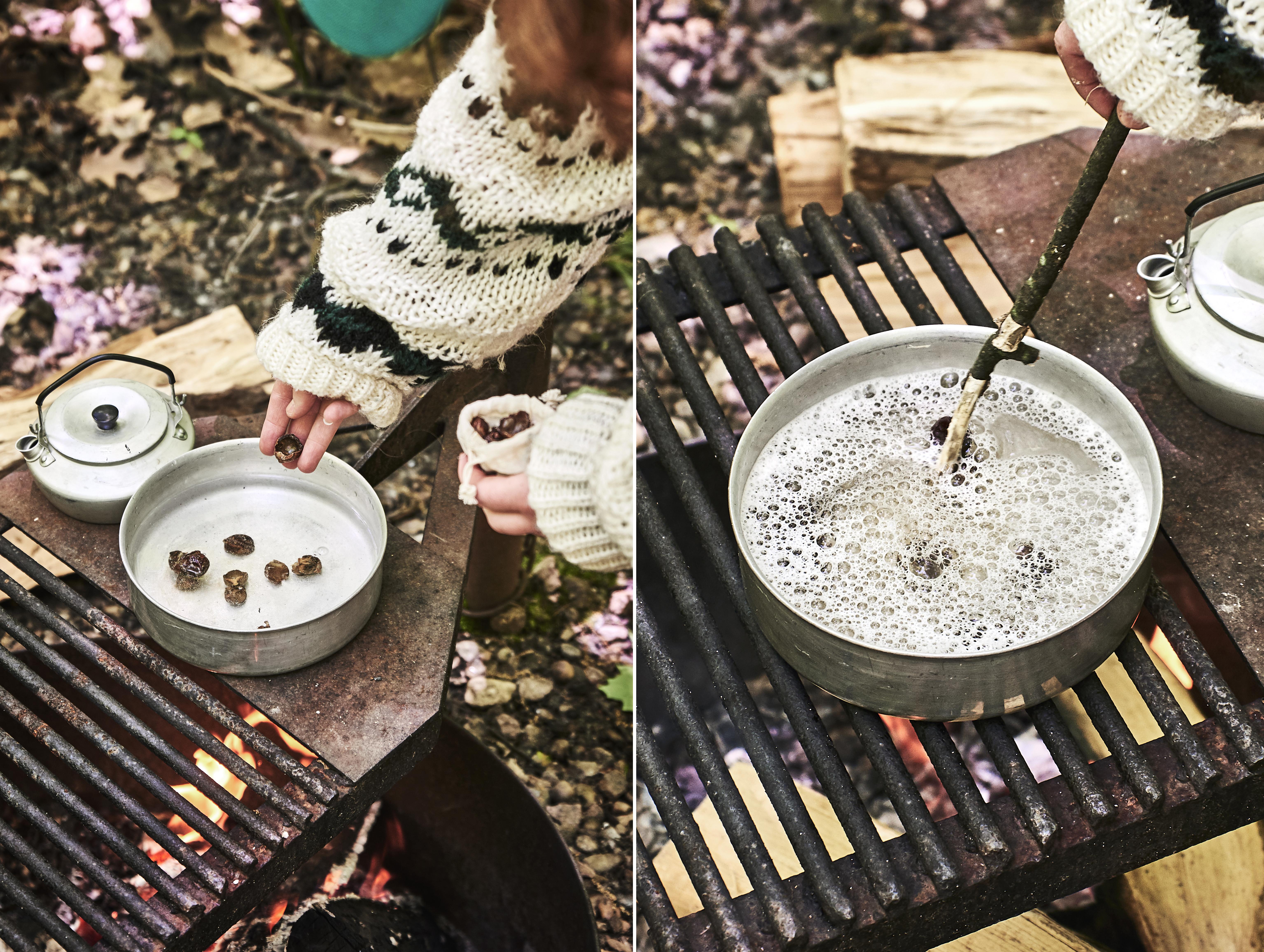 Noix de lavage en camping