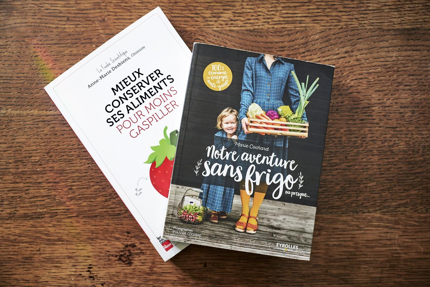 Notre aventure sans frigo de Marie Cochard et le livre de la Foodie Scientifique