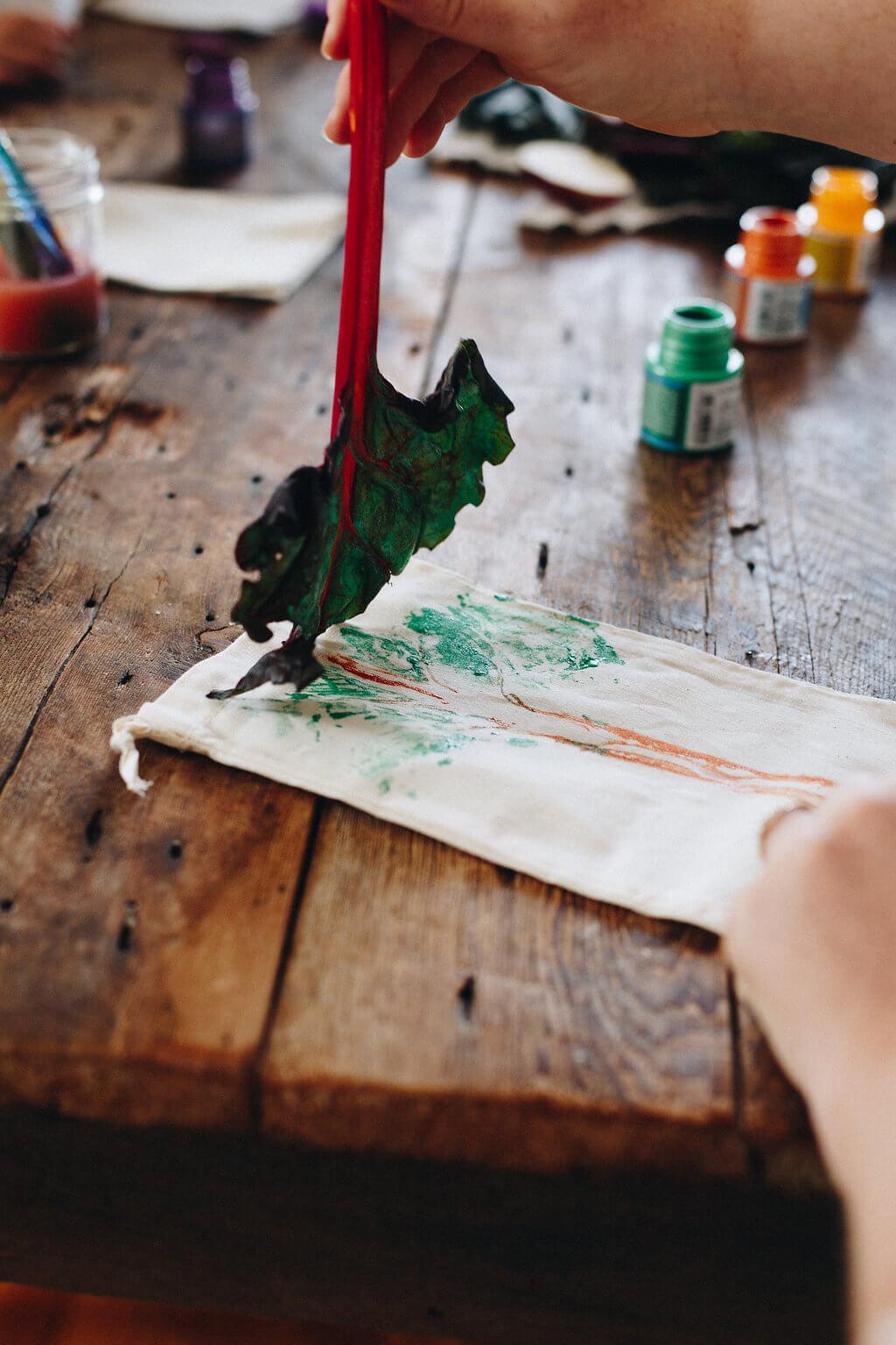 Peinture sur sacs en tissu réutilisable - Chic Frigo Sans Fric