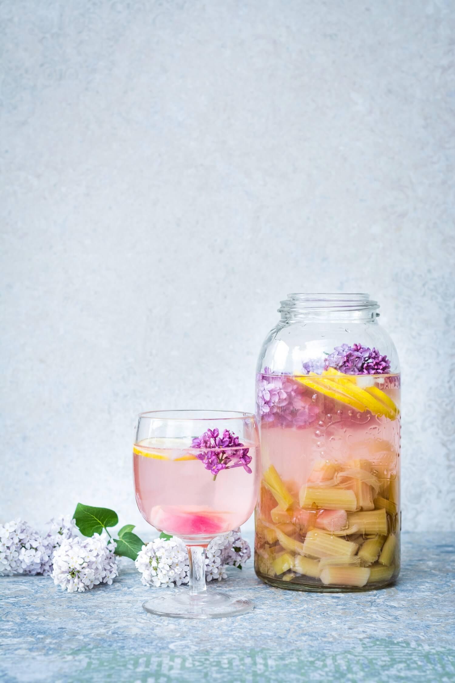 Limonade à la rhubarbe zéro gaspi