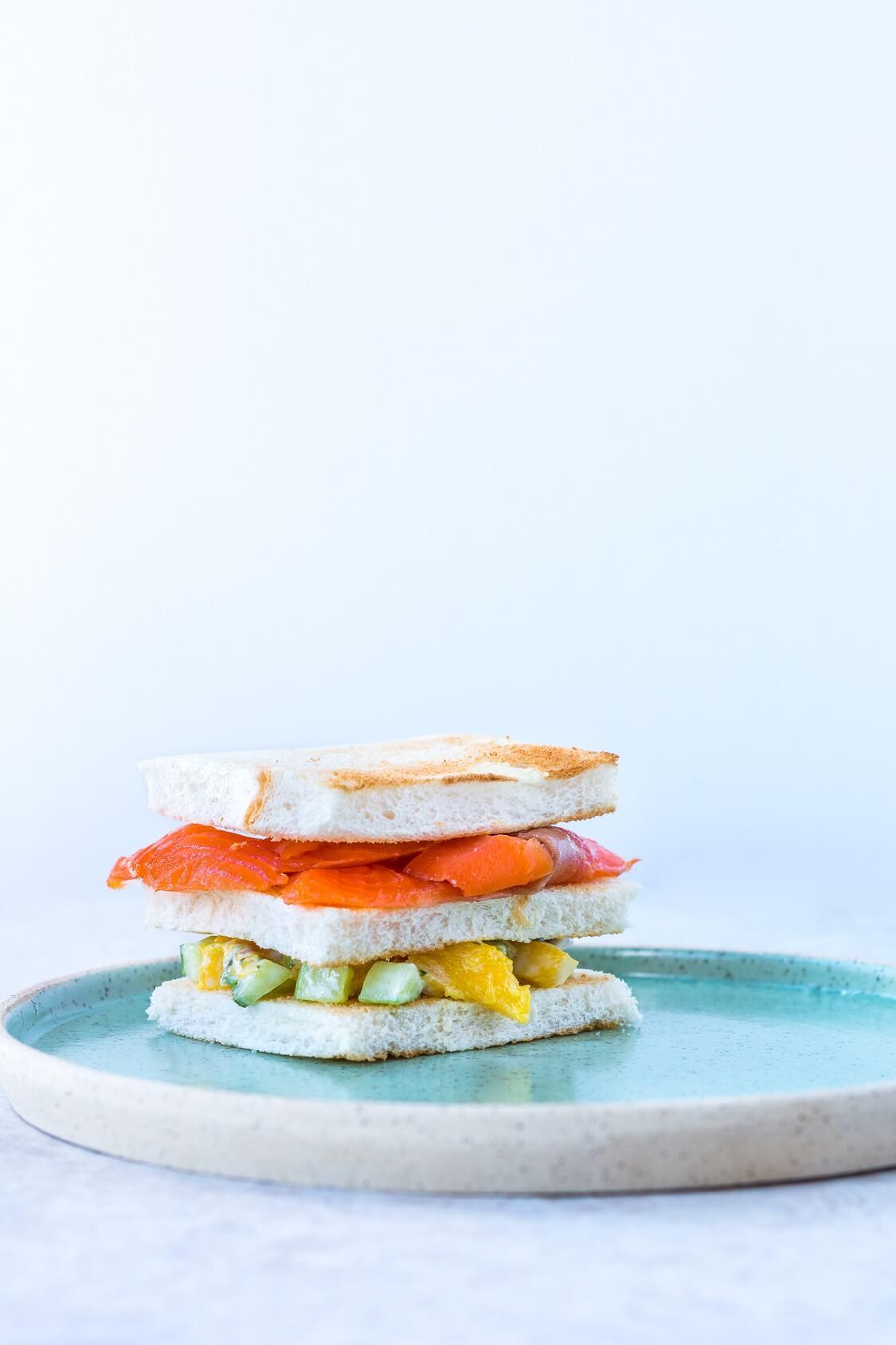 Sandwich thé - concombres zéro gaspi